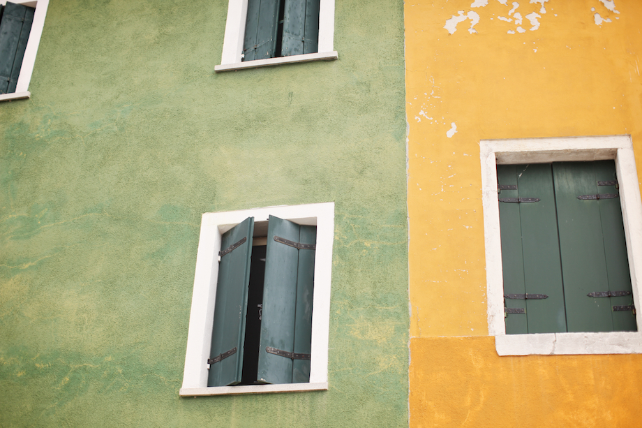 window shutters burano italy
