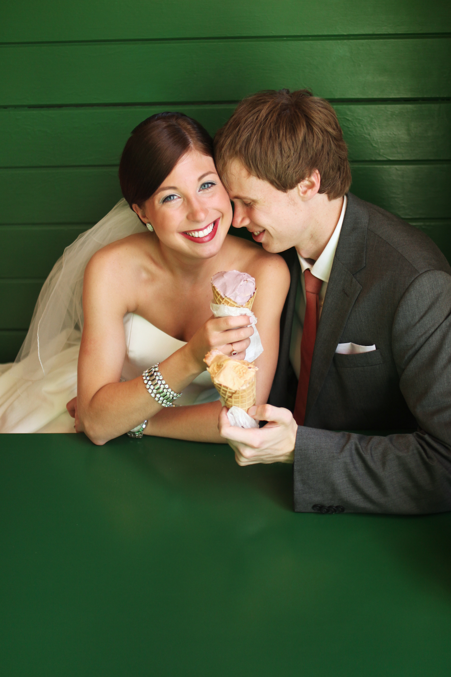 ice cream parlor wedding photo gem photo