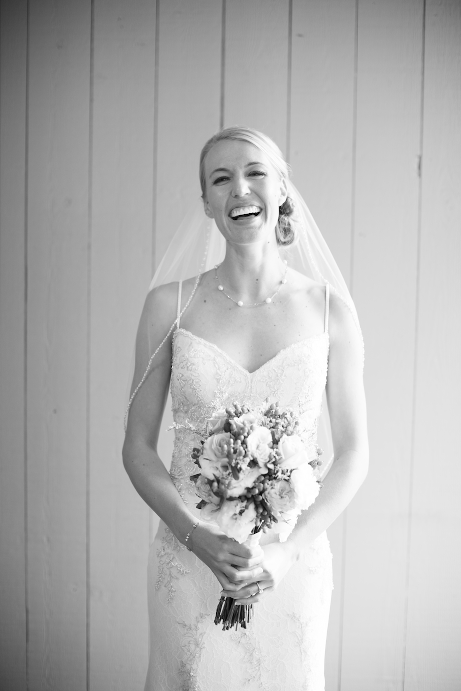natural editorial style wedding portrait bride