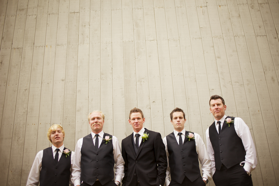 groomsmen looking rad