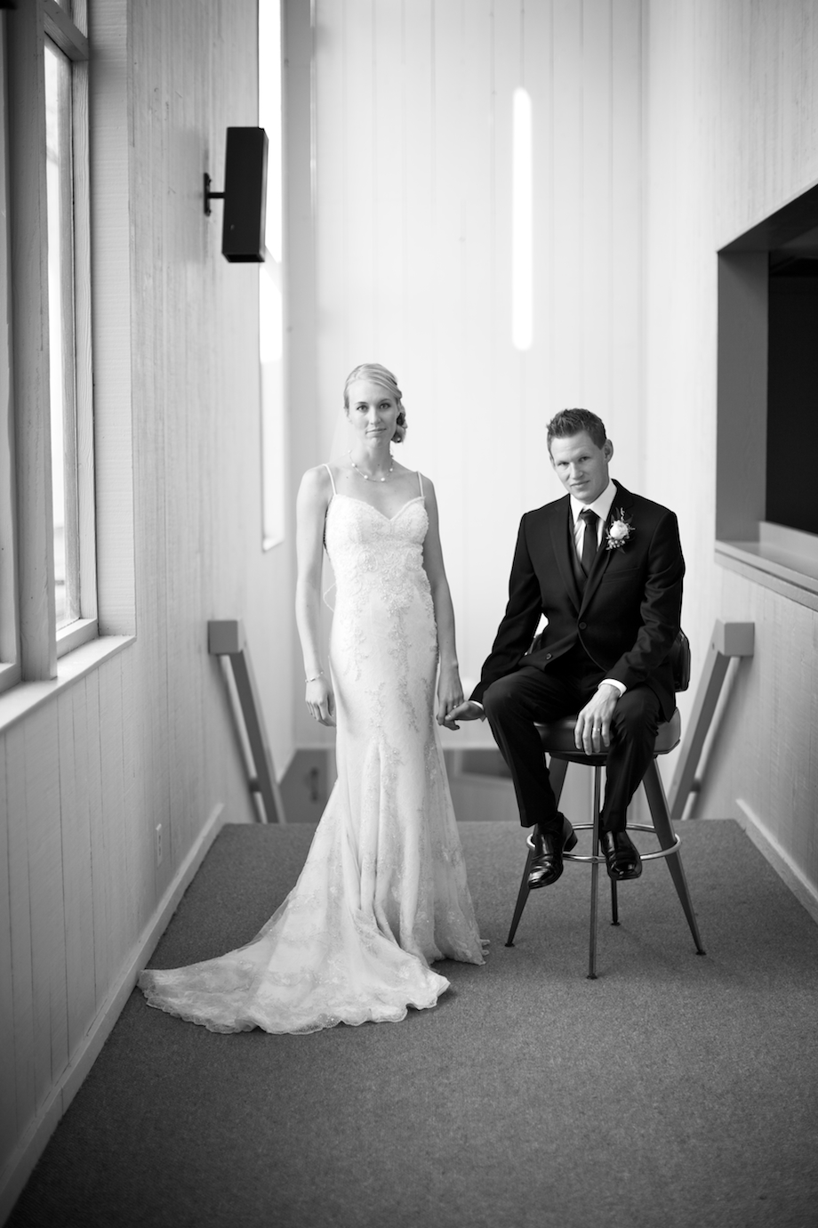 editorial style wedding portrait