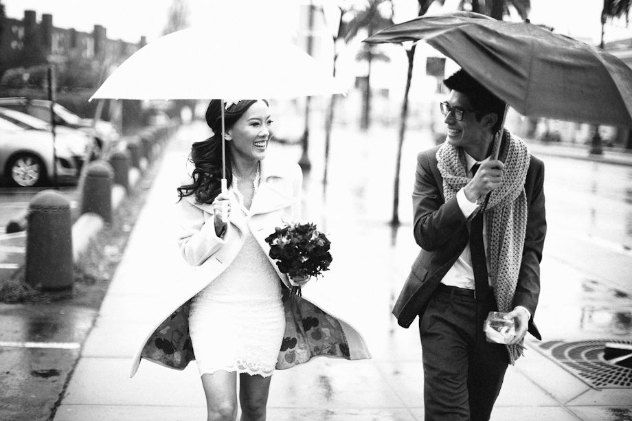 rainy day wedding san francisco