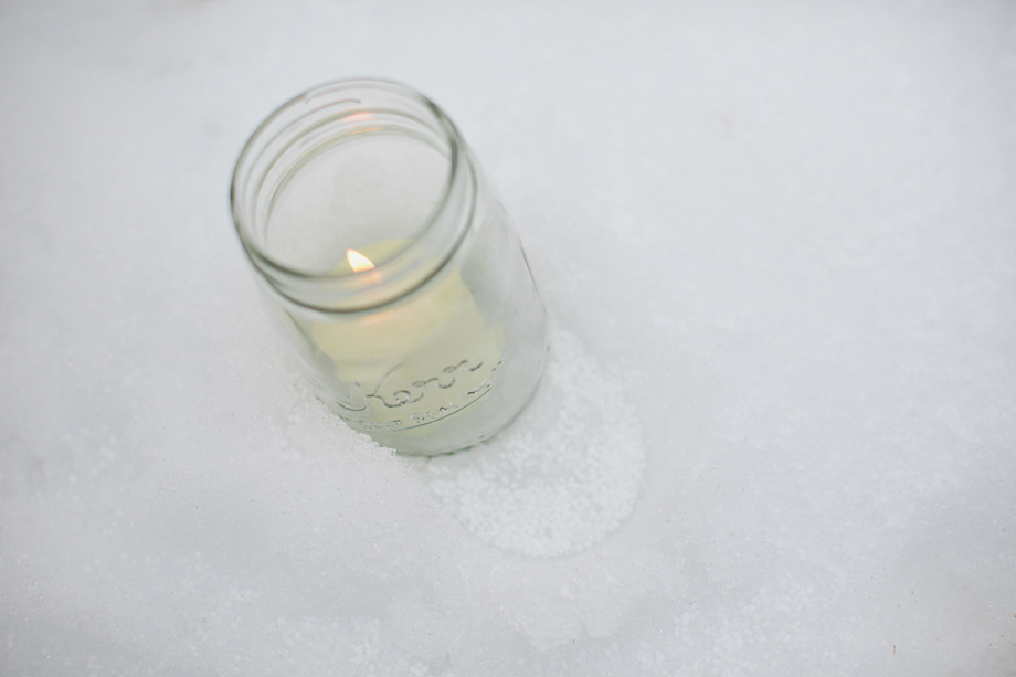 mason jars winter wedding