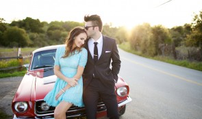 mad men style engagement editorial photography