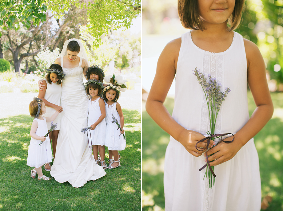 lavender flower girl menlo park wedding