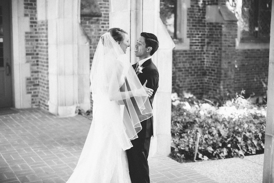 black and white berkeley wedding photography