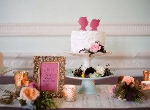 silhouette cake topper kohl mansion wedding